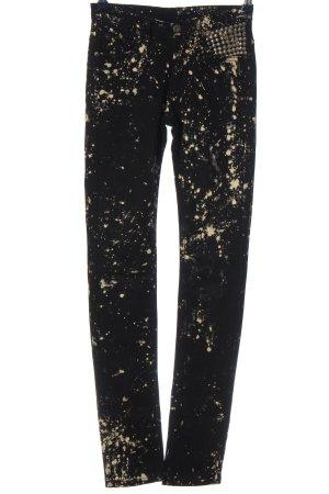 BESS Tube jeans zwart-goud abstract patroon feest stijl