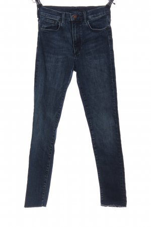 Tube jeans blauw casual uitstraling