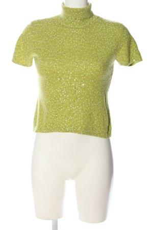 Votre Nom Rollkragenpullover grün Casual-Look