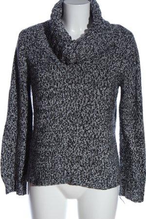 panache Jersey de cuello alto gris claro-negro look casual