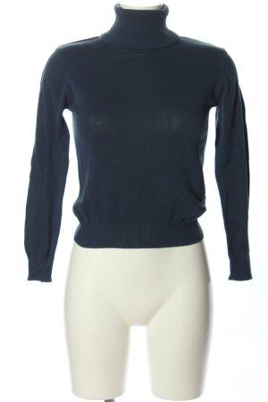 anukoo Sweter z golfem niebieski W stylu casual