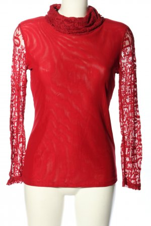 TROIS-RONDS Turtleneck Shirt red casual look