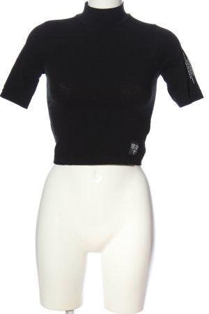 New Bav Top à col roulé noir style décontracté