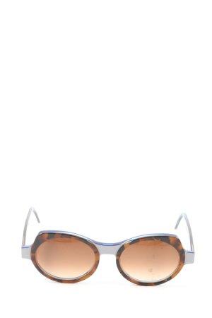 SEEOO runde Sonnenbrille braun-schwarz Casual-Look