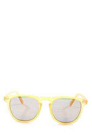 Mize Lunettes rondes jaune primevère style décontracté