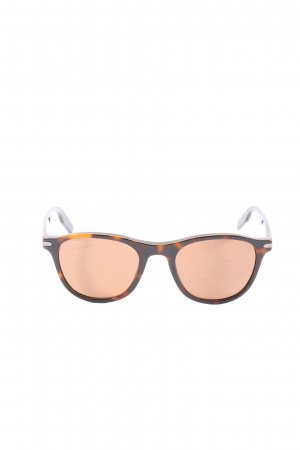serengeti Round Sunglasses brown-light orange abstract pattern casual look