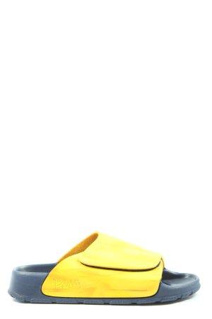 Sabot bladożółty-niebieski W stylu casual