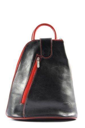 Satchel black-red casual look
