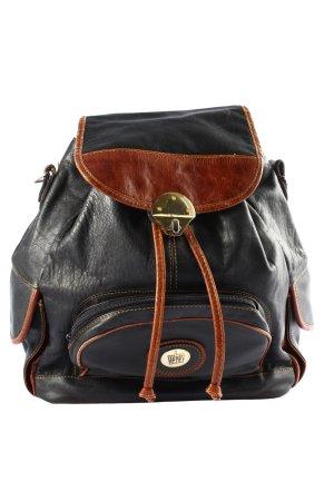 Satchel black-brown casual look