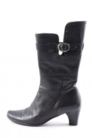 Jackboots black-silver-colored casual look