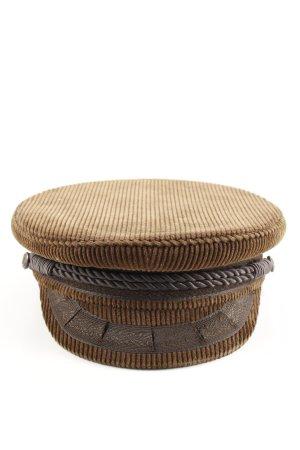 Cappello con visiera marrone stile casual