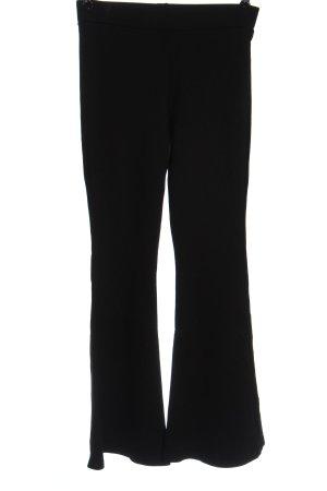 madame moss Broek met wijd uitlopende pijpen zwart zakelijke stijl