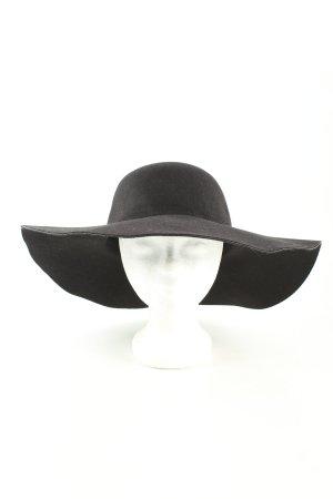 Zachte hoed zwart casual uitstraling
