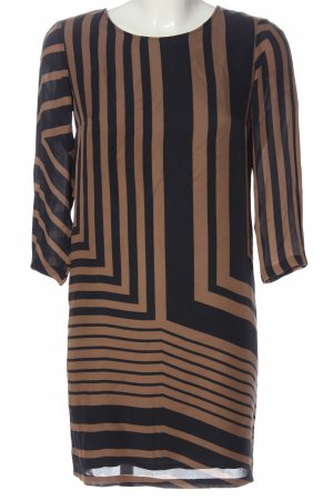 Tube Dress brown-black striped pattern business style