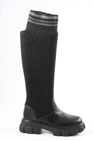 Schlüpf-Stiefeletten schwarz Casual-Look
