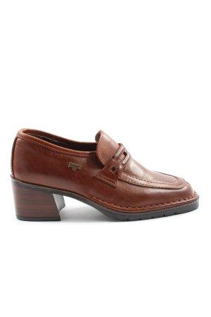 Zapatos sin cordones marrón elegante