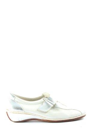 Spiffy Schlüpfschuhe weiß-silberfarben Casual-Look