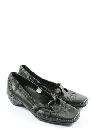 kiarflex Buty wciągane czarny W stylu casual