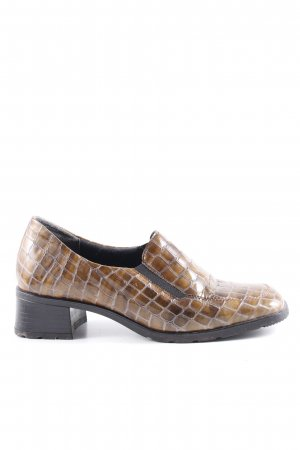 Bleil Slip-on Shoes brown animal pattern casual look