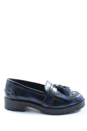 Docksteps Buty wciągane niebieski-czarny Gradient W stylu casual