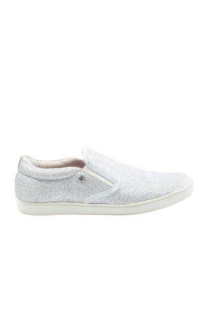 bqz Zapatillas deslizantes color plata look casual