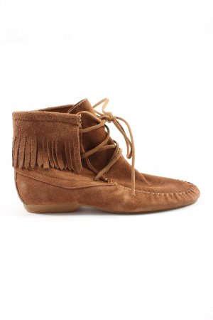Lace-up Booties brown casual look