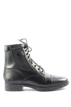 covalliero Sznurowane botki czarny W stylu casual