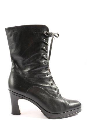NelloNembro Bottines à lacets noir style extravagant