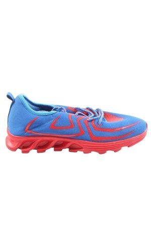 Meinianguan Schnürsneaker blau-rot Motivdruck Casual-Look