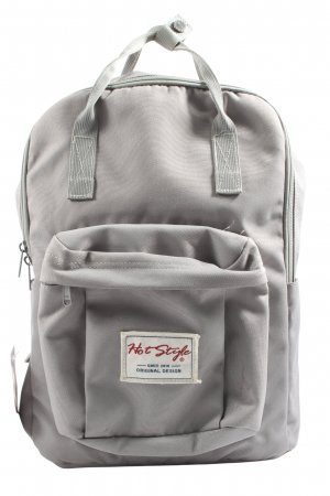 hot style School Backpack light grey casual look