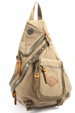 zerlar School Backpack cream-brown casual look