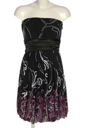 Love U Vestido strapless estampado con diseño abstracto elegante