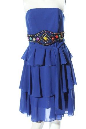 Moncho Heredia schulterfreies Kleid blau Elegant