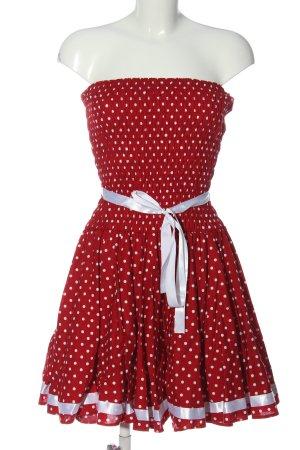 Off-The-Shoulder Dress red allover print elegant