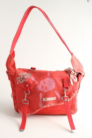 Schultertasche rot Casual-Look