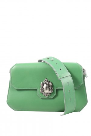 Schultertasche grün-silberfarben Casual-Look