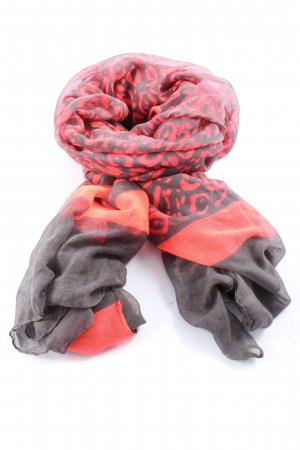 Shoulder Scarf pink-black abstract pattern casual look