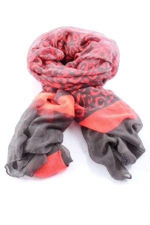 Chusta na ramiona różowy-czarny Abstrakcyjny wzór W stylu casual