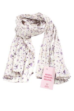Bijou Brigitte Shoulder Scarf white-lilac allover print casual look