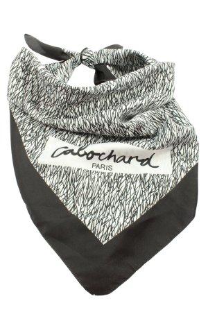 Foulard noir-blanc imprimé allover style décontracté