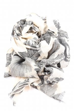 Shoulder Scarf black-natural white abstract pattern casual look