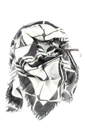 Schoudersjaal zwart-wit volledige print casual uitstraling