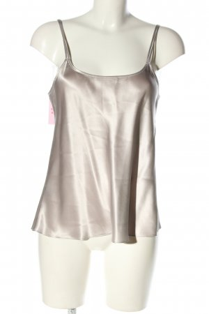 LUNA DI SETA Silk Top silver-colored casual look