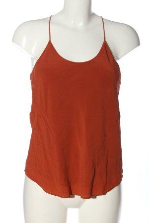 Grana Top in seta arancione chiaro stile casual
