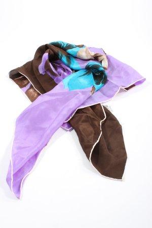 Foulard en soie imprimé allover style décontracté