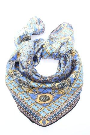 Zijden doek blauw-sleutelbloem volledige print casual uitstraling