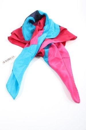Foulard en soie bleu-rose style décontracté