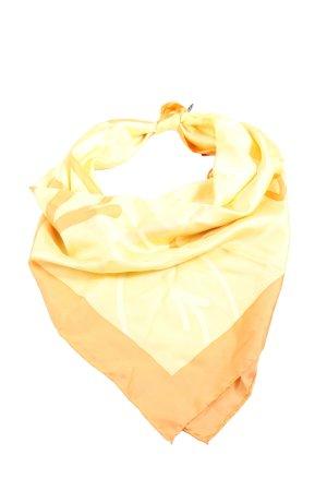 Jedwabna chusta jasny pomarańczowy-bladożółty Wzór w paski W stylu casual