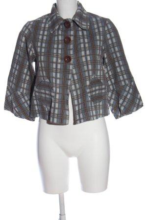 Veste chemise motif à carreaux style décontracté