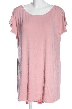 T-shirt jurk roze casual uitstraling
